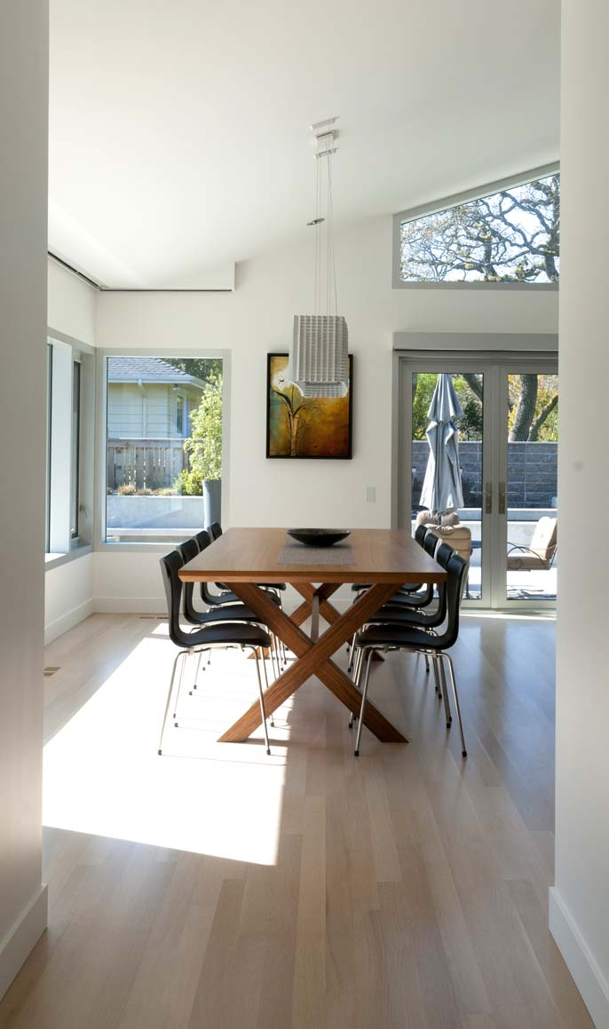 dining room with lots of natural light