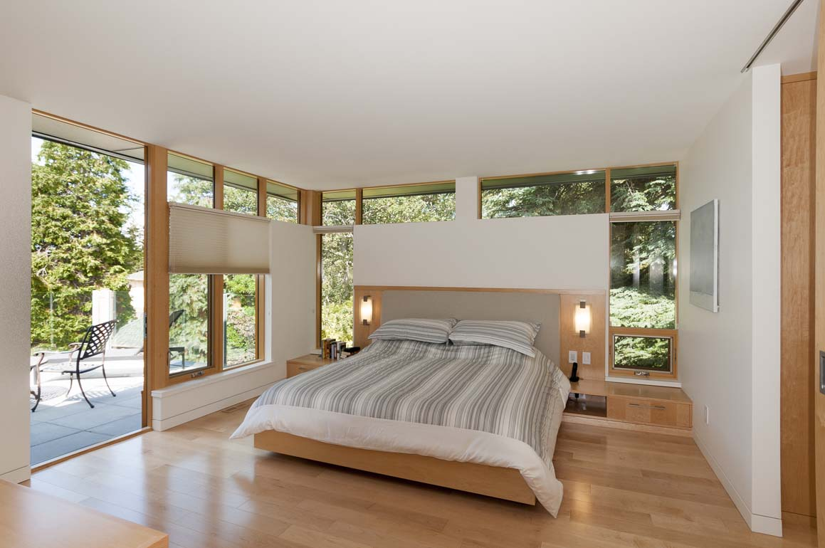 master bedroom in high end home