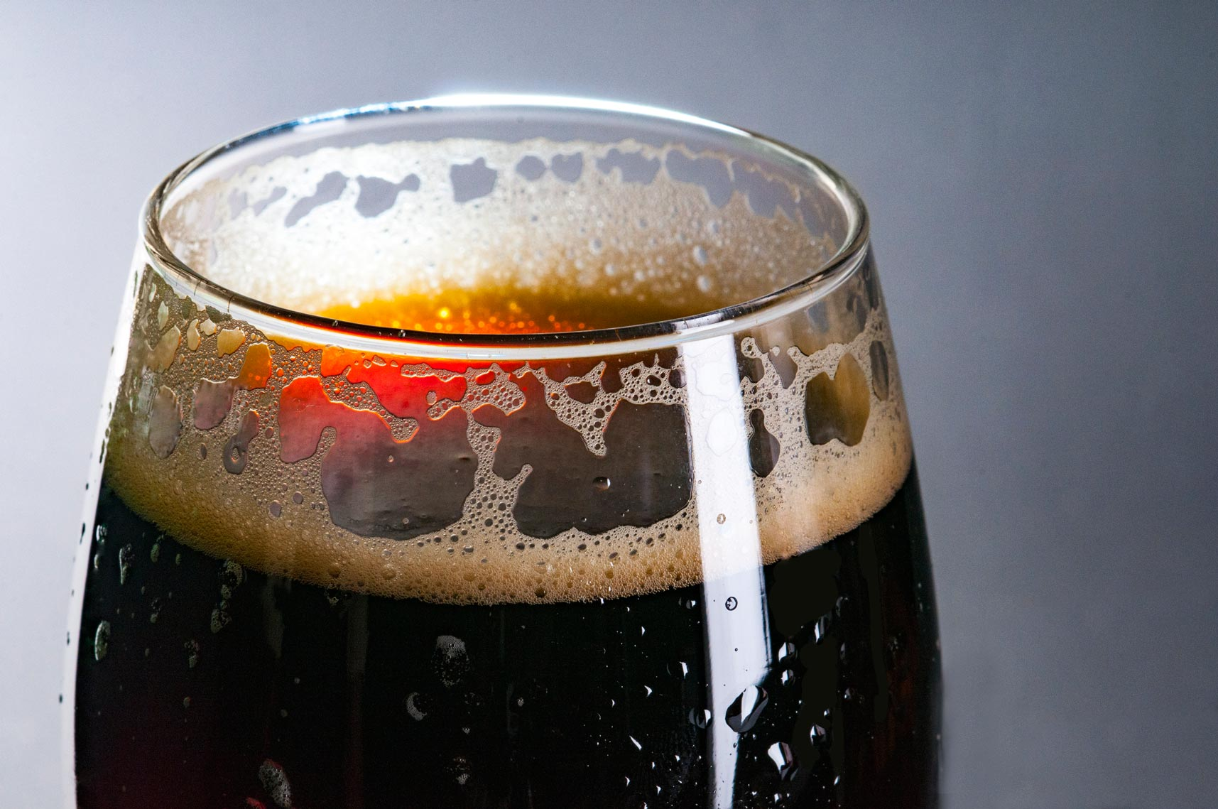 close up of guinness with studio lighting