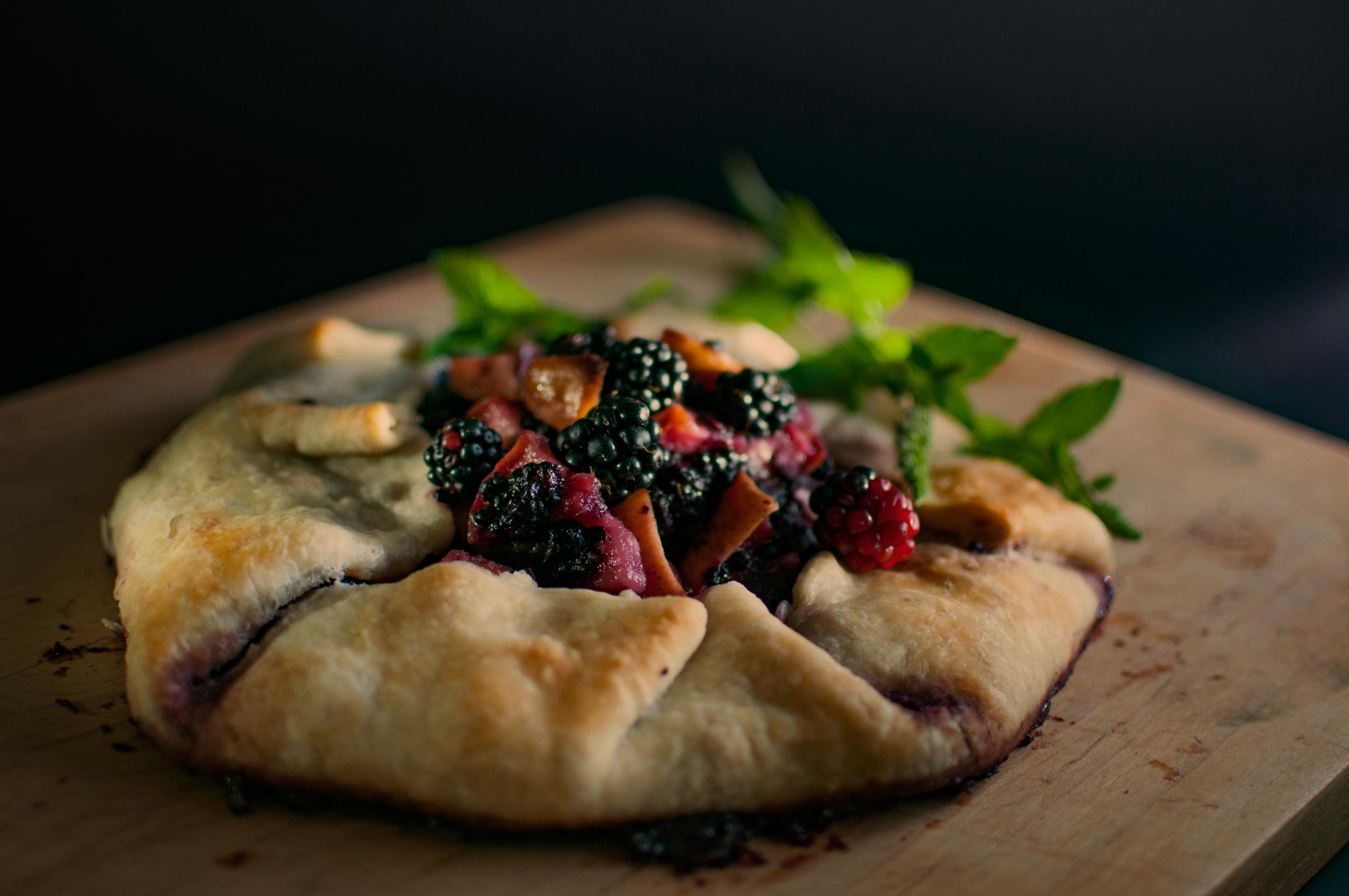 galette tart food photography